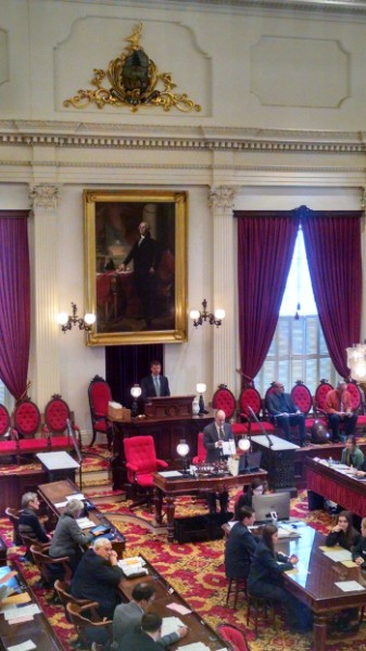 Photo Caption: An image of the Vermont State Legislature during consideration of the Armenian Genocide Centennial Resolution
