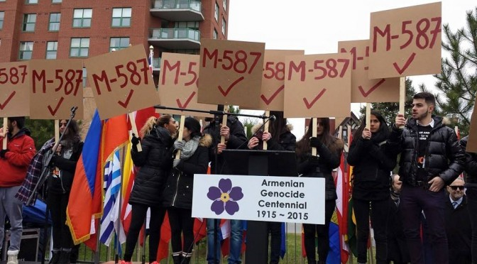 Canada: April Declared Genocide Remembrance, Condemnation and Prevention Month; April 24th Armenian Genocide Remembrance Day