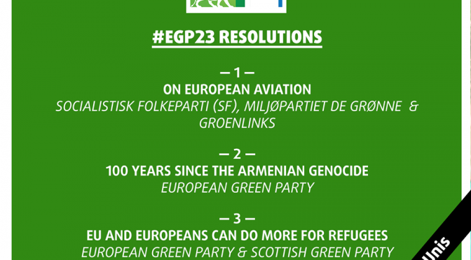 European Greens Party expresses its solidarity with the Armenian people, adopts resolution on Genocide